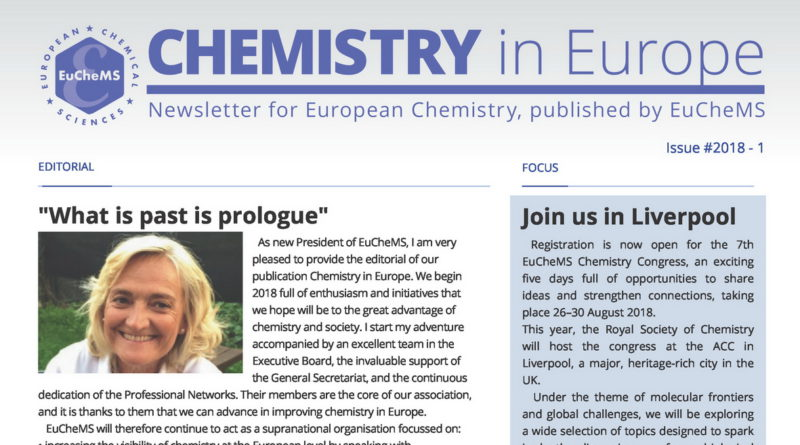 The first issue of 2018 Chemistry in Europe Newsletter published