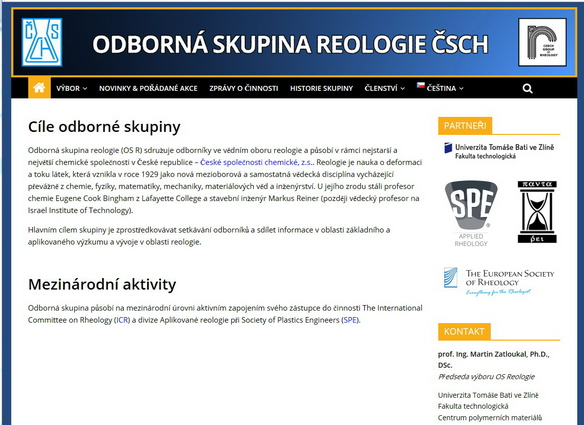 OS Reologie má nové webové stránky
