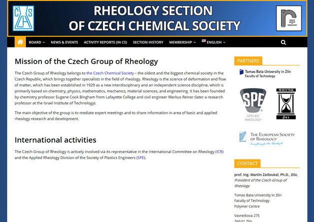 New web of the WG Rheology